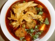 Meatball soup plated 1