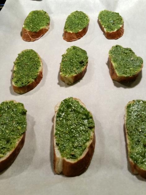 Pretzel Bread with Pesto